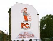 Fassadengestaltung, Werbung für ein Einkaufszentrum