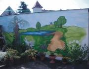 Gestaltung einer Hausfassade mit Landschaftsmotive